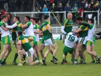 Kerry and Donegal players involved in one of many malees last Sunday. Photo by Gavin O'Connor.