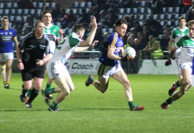 Brian O Beaglaioch on the attack. Photo by Dermot Crean