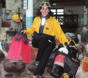 Manager of the Aqua Dome, Mags O'Sullivan is off diving in Russia for ten days. Photo by Gavin O'Connor.