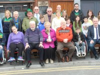 The St Patrick's Day Parade Committee with the winners of the best entries in the parade at the Abbey Inn on Tuesday. Photo by Dermot Crean