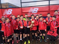 Park U13 team after winng The Plate at the Manchester Easter International Cup