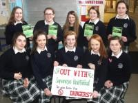 Presentation Girls' Project Raises Awareness Of Knotweed Problem