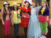 At The Presentation Secondary School 'Dress In Character Day' were, from left: Caroline Hurley, Symmone Hunt, Elizabeth Zarane, Kate O'Donoghue and Ailbhe Ryle. Photo by Gavin O'Connor.