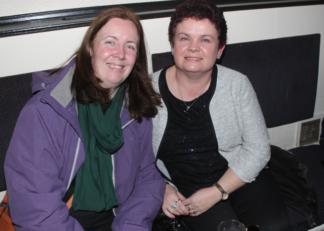 Susan Goodwin and Helen Moriarty at the Cheltenham Preview Night in aid of St Brendan's NS Blennerville at Skelper Quane's on Thursday night. Photo by Dermot Crean