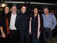 Denise Shanahan, Murt Murphy, Bryan Cooper, Maura O'Donnell and Tom Quane at the Cheltenham Preview Night in aid of St Brendan's NS Blennerville at Skelper Quane's on Thursday night. Photo by Dermot Crean