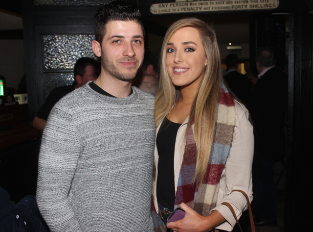 Kevin O'Brien and Michelle Greene at the Cheltenham Preview Night in aid of St Brendan's NS Blennerville at Skelper Quane's on Thursday night. Photo by Dermot Crean