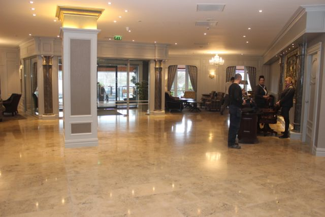 The foyer of the Fels Point Hotel (soon to be rebranded as The Rose Hotel). Photo by Dermot Crean