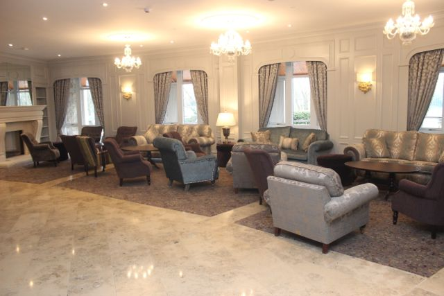 The lounge area in the foyer of the (soon to be) Rose Hotel. Photo by Dermot Crean