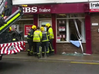 A Car Crashed Into The EBS Building On Russell Street Today