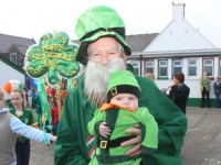 Pupils enjoying the St Patrick's Parade at Scoil Eoin. Photo by Dermot Crean