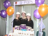 Presentation Tralee students Muirne Scanlon Meabh Pierse and Anna Sheehy with 'O-Pops' at the County Final of the Kerry County Council Annual Student Enterprise Awards at IT Tralee on Friday. Photo by Dermot Crean