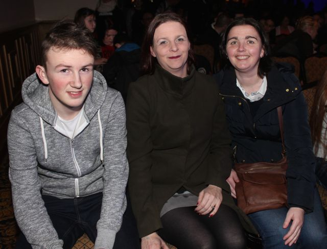 Dylan Brosnan, Sharon Brosnan and Sinead O'Connor at CBS The Green's 'The Kube' event in the Brandon Conference Centre on Wednesday night. Photo by Dermot Crean
