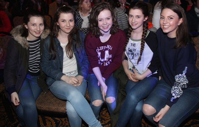 Laura Scanlon, Abbey O'Connell, Kate Mulgrew, Kelly Flannery and Jennifer Hannafin at CBS The Green 'The Kube' event in the Brandon Conference Centre on Wednesday night. Photo by Dermot Crean