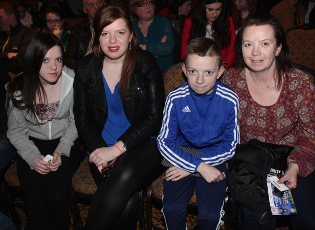 Rachel, Tina, Jason and Martina O'Sullivan at CBS The Green's 'The Kube' event in the Brandon Conference Centre on Wednesday night. Photo by Dermot Crean