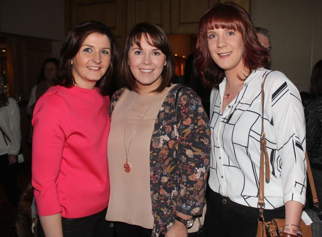 Eilish O'Leary, Karen O'Connor and Amanda O'Connor at CBS The Green 'The Kube' event in the Brandon Conference Centre on Wednesday night. Photo by Dermot Crean