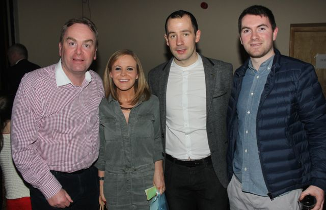 John Culloty, Aileen Somers, Mike Tim O'Sullivan and Mark Costello at CBS The Green 'The Kube' event in the Brandon Conference Centre on Wednesday night. Photo by Dermot Crean