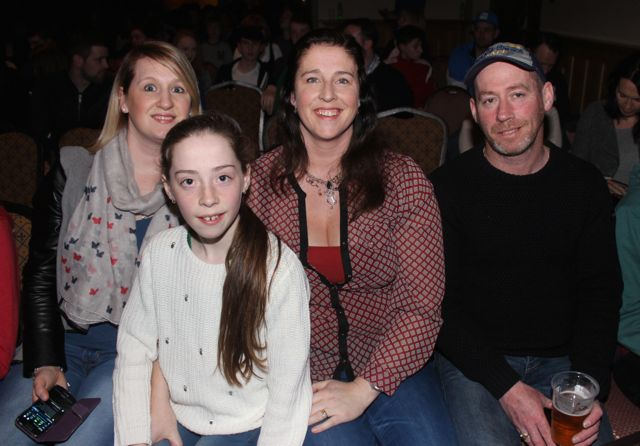 Stephanie Turner, Emma Farrelly, Susan Farrelly and Eugene Farrelly at CBS The Green 'The Kube' event in the Brandon Conference Centre on Wednesday night. Photo by Dermot Crean
