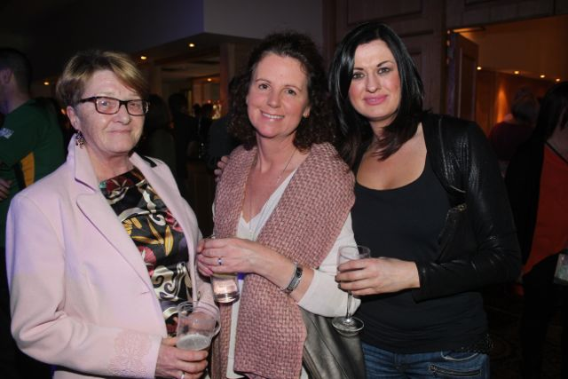 Maria Hickey, Margo Burns and Michelle Dowling at CBS The Green 'The Kube' event in the Brandon Conference Centre on Wednesday night. Photo by Dermot Crean