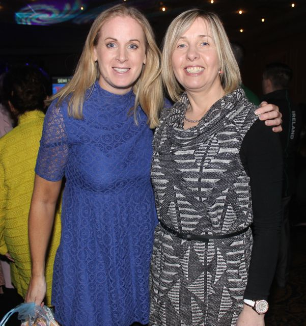 Helen Tensely and Nora Scanlon at CBS The Green 'The Kube' event in the Brandon Conference Centre on Wednesday night. Photo by Dermot Crean