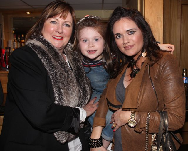 Marian McGillycuddy, Alice O'Connor and Ellen McGillycuddy at CBS The Green's 'The Kube' event in the Brandon Conference Centre on Wednesday night. Photo by Dermot Crean