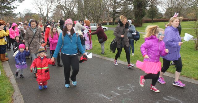 Participants at the Tir Na nOg Fun Run in the Town Park on Saturday afternoon. Photo by Dermot Crean