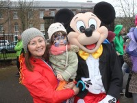 Nora and Aoibhin O'Sullivan with Mickey at the Tir Na nOg Fun Run in the Town Park on Saturday afternoon. Photo by Dermot Crean