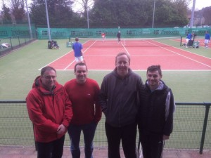 The Grade 5 Men's after their victory in the Munster Branch Winter League; Ray Moroney, Shane O'Sullivan, John Finnegan and Stephen Roche.