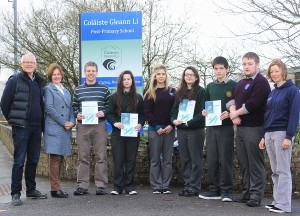 At Coláiste Gleann Lí fir the presentation of Certificates of Achievement for Adventuring were, from left: Donal Dowd, Norma Thompson, John Cragh, Saoirse Hussey, Michelle Hrachovinova, Holly Touhy, Daniel Chung, Paul McCarthy and Mary Nash. Photo by Gavin O'Connor.