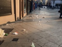 Littered Square Does Not Make A Happy St Patrick's Day