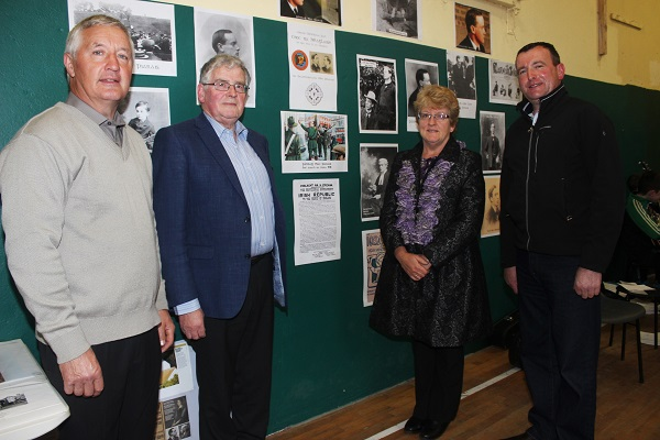 Dave Buckley, Demot Crowley, Sinead Cotter and Padraig Walsh at the Churchill GAA 1916 commoration. Photo by Gavin O'Connor.