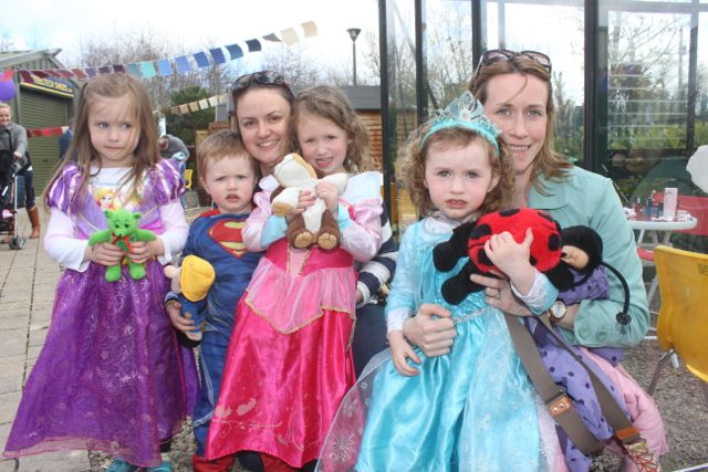 Jessica Reen, Jack Buckley, Barbara Buckley, Clodagh Buckley, Soars Reen and Emer Reen at the Family Fun at Ballyseedy Garden Centre in aid of Down Syndrome Kerry on Saturday. Photo by Dermot Crean