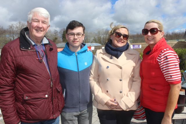 Joe O'Brien, Luke O'Mahony, Sharon O'Mahony and Marian O'Mahony at the Family Fun at Ballyseedy Garden Centre in aid of Down Syndrome Kerry on Saturday. Photo by Dermot Crean
