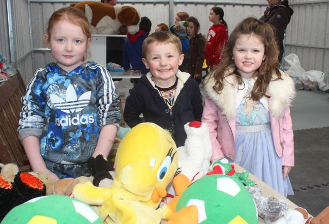 Kate Murnane, Donagh O'Connell and Niamh O'Connor at the Family Fun at Ballyseedy Garden Centre in aid of Down Syndrome Kerry on Saturday. Photo by Dermot Crean
