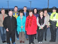 front: Pat O'Shea, Joan Trant, Helen O'Sullivan, Kay O'Connor. Back: Phil Leen, Paul O'Siullivan, Simon Quinn, Mena Cahill, Debbie O'Connor and Garda Irene Riordan. Photo by Gavin O'Connor.