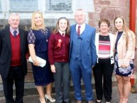Errol, Margo, Paula, Colin, Maura and Corrie Rogers on Confirmation Day at St John's Church on Friday afternoon. Photo by Dermot Crean