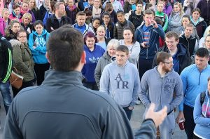 Institute of Technology Tralee students walked out of the college on Tuesday morning. Photo by Gavin O'Connor.