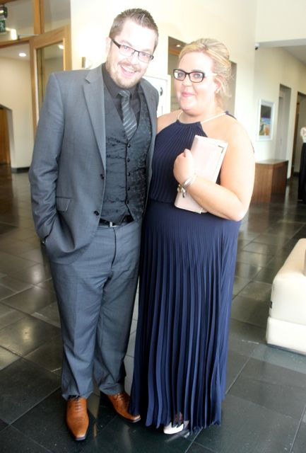 David Scott and Lorraine Carroll at the IT Tralee College Ball at the Ballyroe Heights Hotel on Wednesday night. Photo by Dermot Crean