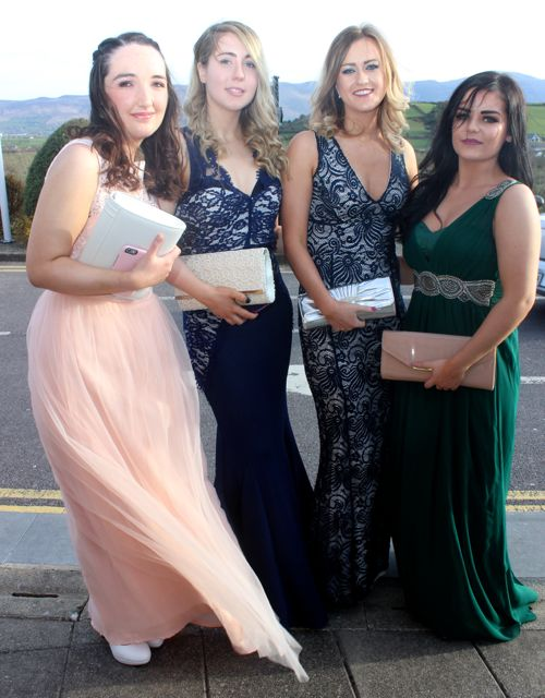Emma Carmody, Colleen Boyle, Leonie Noonan at the IT Tralee College Ball at the Ballyroe Heights Hotel on Wednesday night. Photo by Dermot Crean