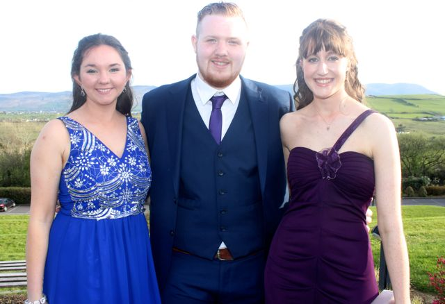 Emma Cournane, Eoin McGovern and Noreen Landers at the IT Tralee College Ball at the Ballyroe Heights Hotel on Wednesday night. Photo by Dermot Crean