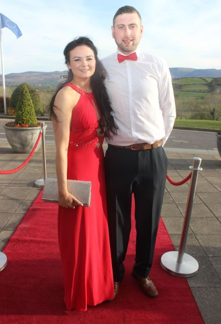 Rebecca Daly and Daniel Browne at the IT Tralee College Ball at the Ballyroe Heights Hotel on Wednesday night. Photo by Dermot Crean