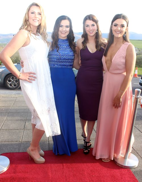 Michelle McCarthy, Claire McCarthy, Martina Quirke and Deirdre McCarthy at the IT Tralee College Ball at the Ballyroe Heights Hotel on Wednesday night. Photo by Dermot Crean