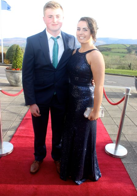 Tom Slattery and Katie Guiney at the IT Tralee College Ball at the Ballyroe Heights Hotel on Wednesday night. Photo by Dermot Crean