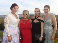 Fiona O'Connor, Jenny Plunkett, Diane O'Connor and Aine Brennan at the IT Tralee College Ball at the Ballyroe Heights Hotel on Wednesday night. Photo by Dermot Crean