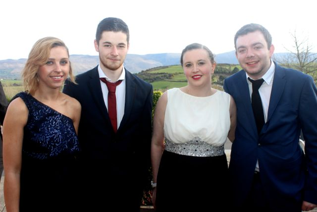 Hayley O'Donoghue, Tom Stack, Sharon Williams and Robert Tuohy at the IT Tralee College Ball at the Ballyroe Heights Hotel on Wednesday night. Photo by Dermot Crean