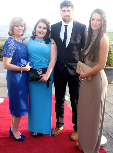 Teresa Cuffe, Clodagh Roche, Diarmaid Crowley and Naomi Cuffe at the IT Tralee College Ball at the Ballyroe Heights Hotel on Wednesday night. Photo by Dermot Crean