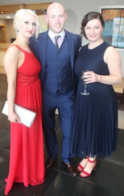 Lana Raftery, Graham O'Neill and Aislinn Clifford at the IT Tralee College Ball at the Ballyroe Heights Hotel on Wednesday night. Photo by Dermot Crean