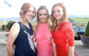 Denise Gavin, Amy Whooly and Mairead Noonan at the IT Tralee College Ball at the Ballyroe Heights Hotel on Wednesday night. Photo by Dermot Crean