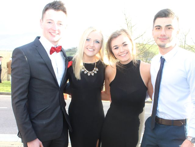Jarlath Bell, Jessica Swain, Leah Broderick and PJ Reynolds at the ITT Sports Clubs And Societies Ball at the Ballyroe Heights Hotel on Thursday night. Photo by Dermot Crean