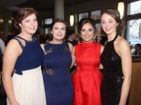 Olivia Cahill, Chloe Morley, Sinead O'Hagan and Ciara Houlihan at the ITT Sports Clubs And Socities Ball at the Ballyroe Heights Hotel on Thursday night. Photo by Dermot Crean