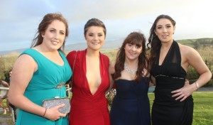 Michelle Mulligan, Annie Cooper, Suzie O'Shea and Clodagh O'Halloran at the ITT Sports Clubs And Socities Ball at the ITT Sports Clubs And Societies Ball at the Ballyroe Heights Hotel on Thursday night. Photo by Dermot Crean